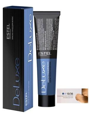 Краска-уход 10/36 DE LUXE для окрашивания волос светлый блондин золотисто-фиолетовый - фото 5018