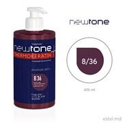 Тонирующая маска для волос NEWTONE ESTEL 8/36 Светло-русый золотисто-фиолетовый, 435 мл